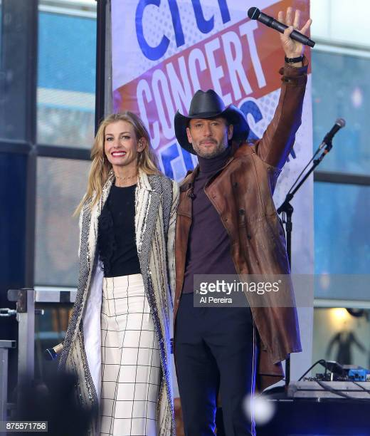 Faith Hill and Tim McGraw perform on NBC's 'Today' Show at Rockefeller Plaza on November 17 2017 in New York City