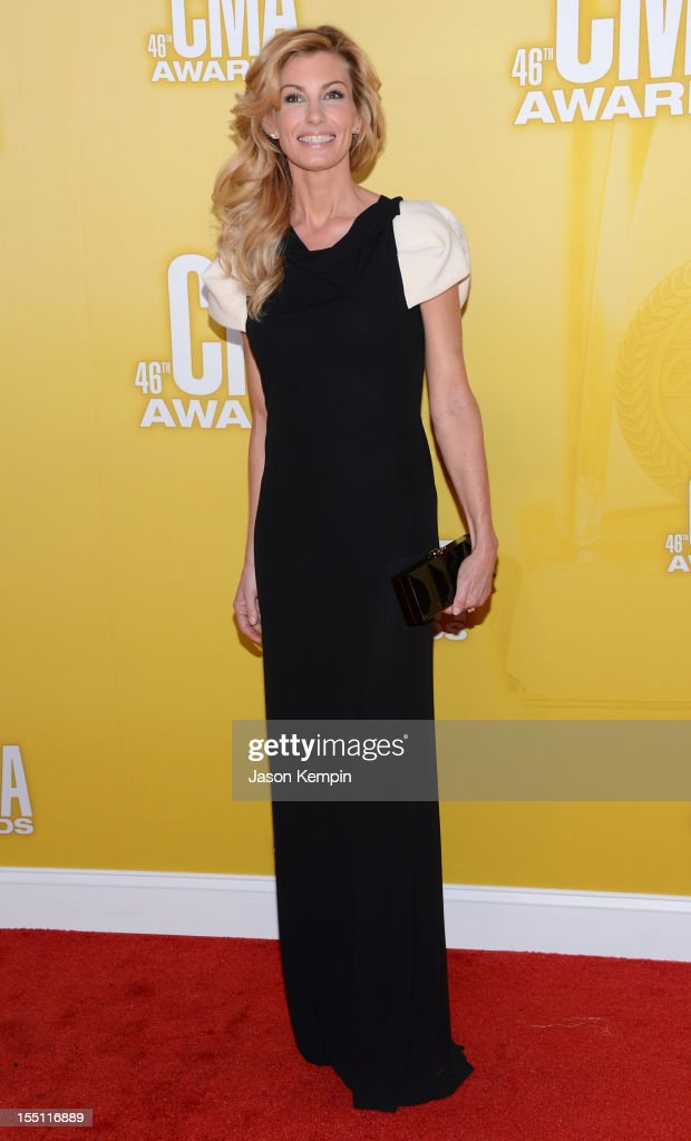 Faith Hill attends the 46th annual CMA Awards at the Bridgestone Arena on November 1, 2012 in Nashville, Tennessee.