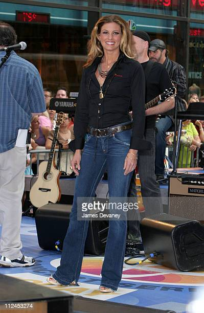 Faith Hill during Faith Hill Performs on the 2005 NBC's 'The Today Show' Summer Concert Series at NBC Studios Rockefeller Plaza in New York City New...