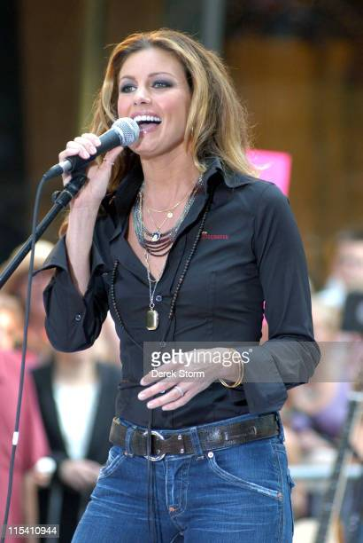 Faith Hill during Faith Hill Performs on the 2005 'Today' Show Summer Concert Series August 5 2005 at NBC Studios Rockefeller Plaza in New York City...