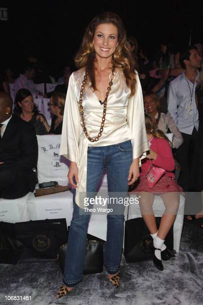 Faith Hill during Olympus Fashion Week Spring 2006 Gwen Stefani for LAMB Front Row and Backstage at Roseland in New York City New York United States