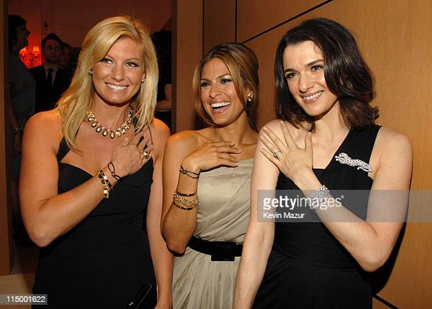 Faith Hill Eva Mendes and Rachel Weisz during Cartier Celebrates Love Inside at The Cartier Mansion in New York City New York United States