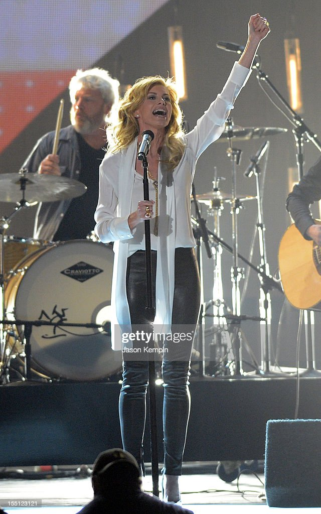 Faith Hill performs during the 46th annual CMA Awards at the Bridgestone Arena on November 1, 2012 in Nashville, Tennessee.
