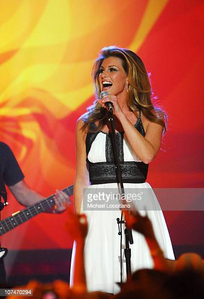 Faith Hill performs 'The Lucky One' during 2006 CMT Music Awards Show at Curb Events Center at Belmont University in Nashville Tennessee United States