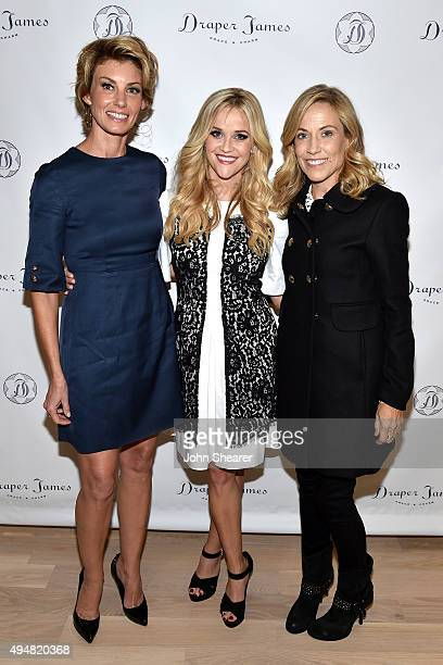 Faith Hill Reese Witherspoon and Sheryl Crow attend the Draper James Nashville store opening on October 28 2015 in Nashville Tennessee