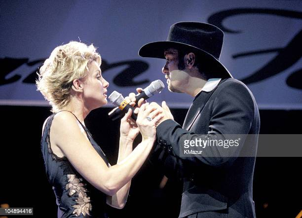 Faith Hill Tim McGraw during Andre Agassi Grand Slam For Children 1996 in Las Vegas Nevada United States
