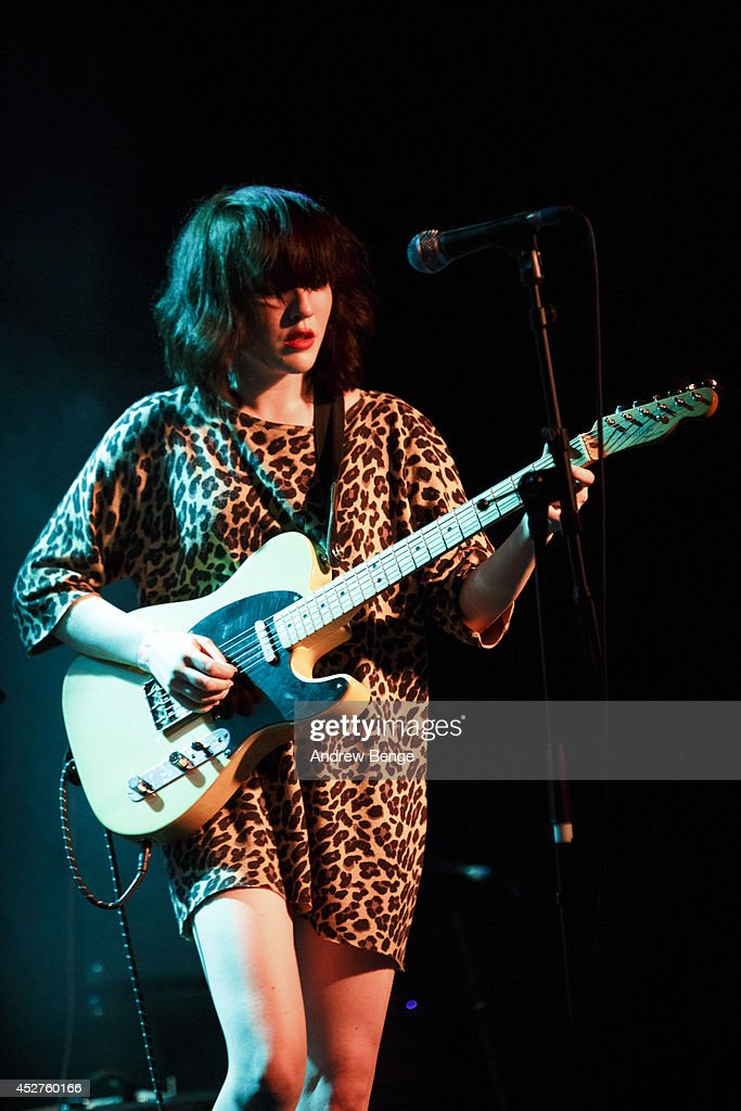Faith Holgate of PINS performs on stage at Tramlines Festival at (venue) on July 26, 2014 in Sheffield, United Kingdom.