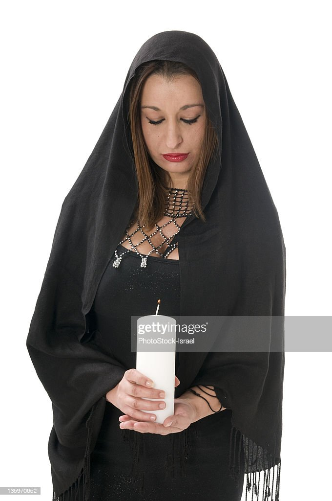 Faith religion and candle : Stock Photo