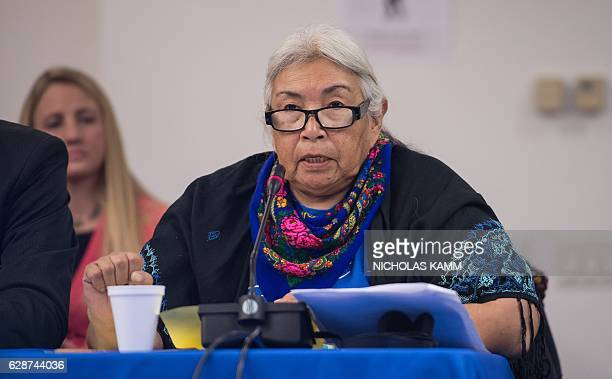 Faith Spotted Eagle of the Yankton Sioux Tribe addresses the InterAmerican Commission on Human Rights of the Organization of American States hearing...