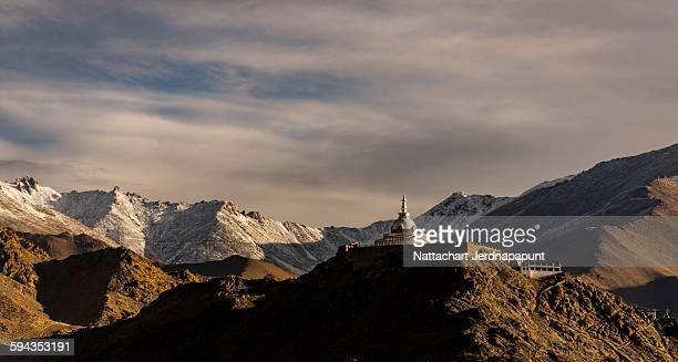 Faithful place ' Shanti stupa'