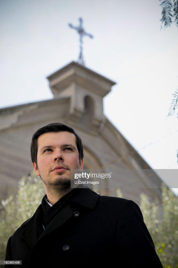 Faithful Young Man : Stock Photo