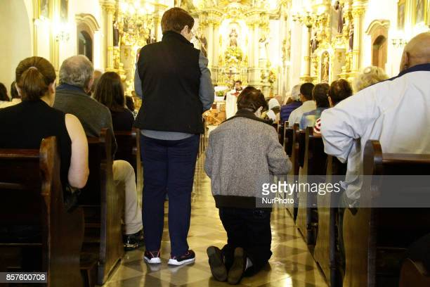 Faithfuls take their pets for Mass celebrated in the parish of St Francis of Assisi central region of São Paulo Brazil on Wednesday a day dedicated...
