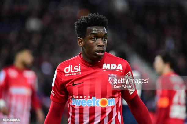 Faitout Maouassa of Nancy during the French Ligue 1 match between Paris Saint Germain and Nancy at Parc des Princes on March 4 2017 in Paris France