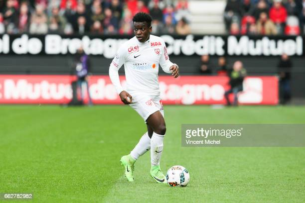 Faitout Maouassa of Nancy during the French Ligue 1 match between Guingamp and Nancy at Stade du Roudourou on March 31 2017 in Guingamp France