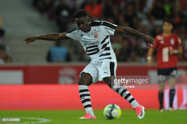 Faitout Maouassa of Rennes during the Friendly match between Lille and Rennes at Stade Pierre Mauroy on July 29 2017 in Lille France