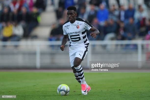 Faitout Maouassa of Rennes during the friendly match between Stade Malherbe Caen and Stade Rennais Rennes on July 22 2017 in Vire France