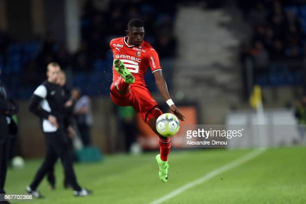 Faitout MAOUASSA of Rennes during the Ligue 1 match between Montpellier Herault SC and Stade Rennais at Stade de la Mosson on October 28 2017 in...