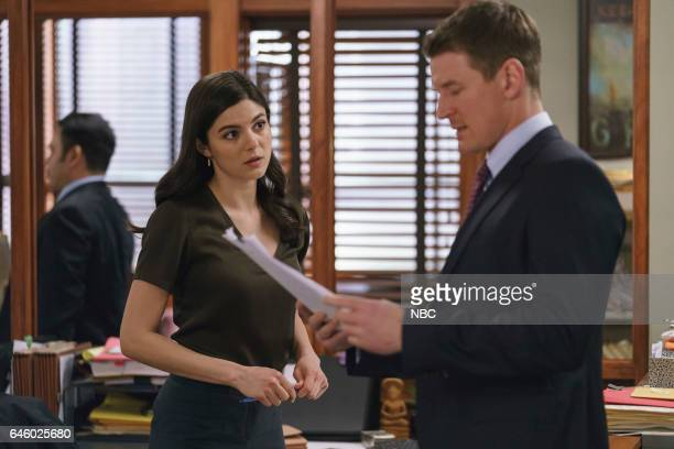 JUSTICE 'Fake' Episode 113 Pictured Monica Barbaro as Anna Valdez Philip Winchester as Peter Stone