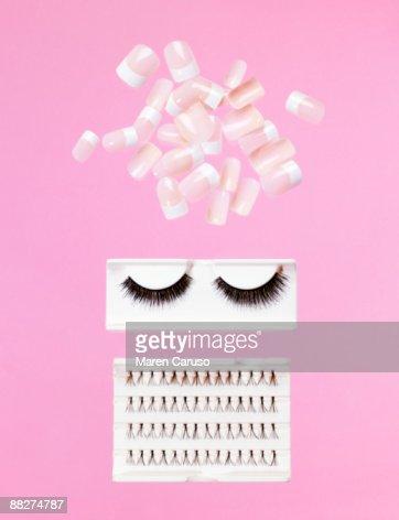 Fake nails and eye lashes