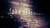 Fake news concept, internet social network.