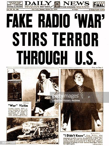 Fake Radio War an episode of the American radio anthology series 'The Mercury Theatre on the Air'