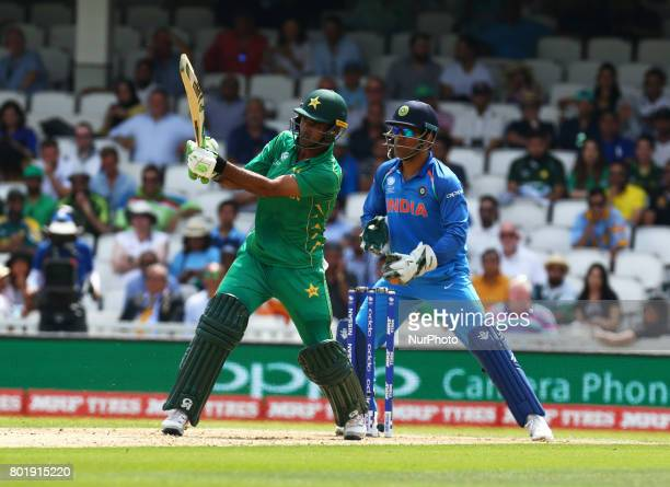 Fakhar Zaman of Pakistan during the ICC Champions Trophy Final match between India and Pakistan at The Oval in London on June 18 2017