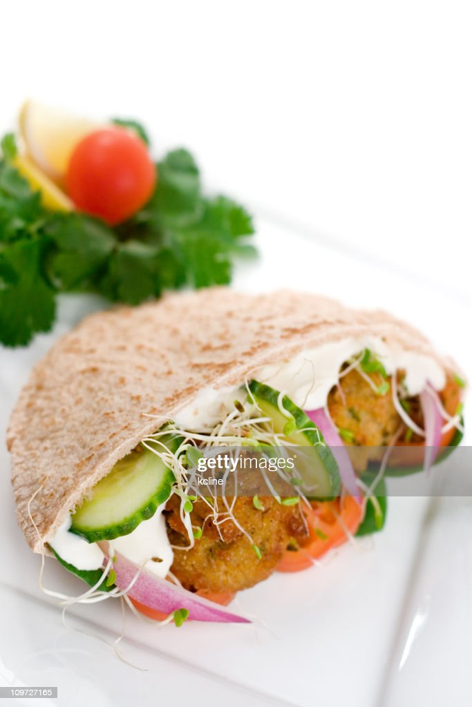 Falafel Pita Sandwich : Stock Photo