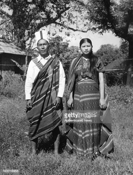Falam Chin Couple in Burma 1955