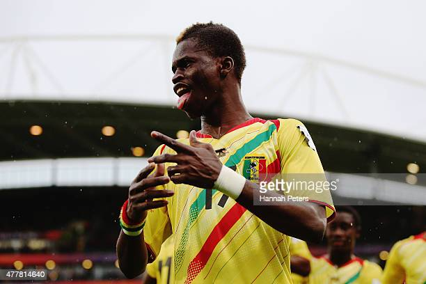 Falaye Sacko of Mali celebrates a goal from Adama Traore of Mali during the FIFA U20 World Cup Third Place Playoff match between Senegal and Mali at...