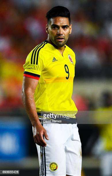 Falcao Garcia of Colombia looks on during a friendly match between Spain and Colombia at La Nueva Condomina stadium on June 7 2017 in Murcia Spain