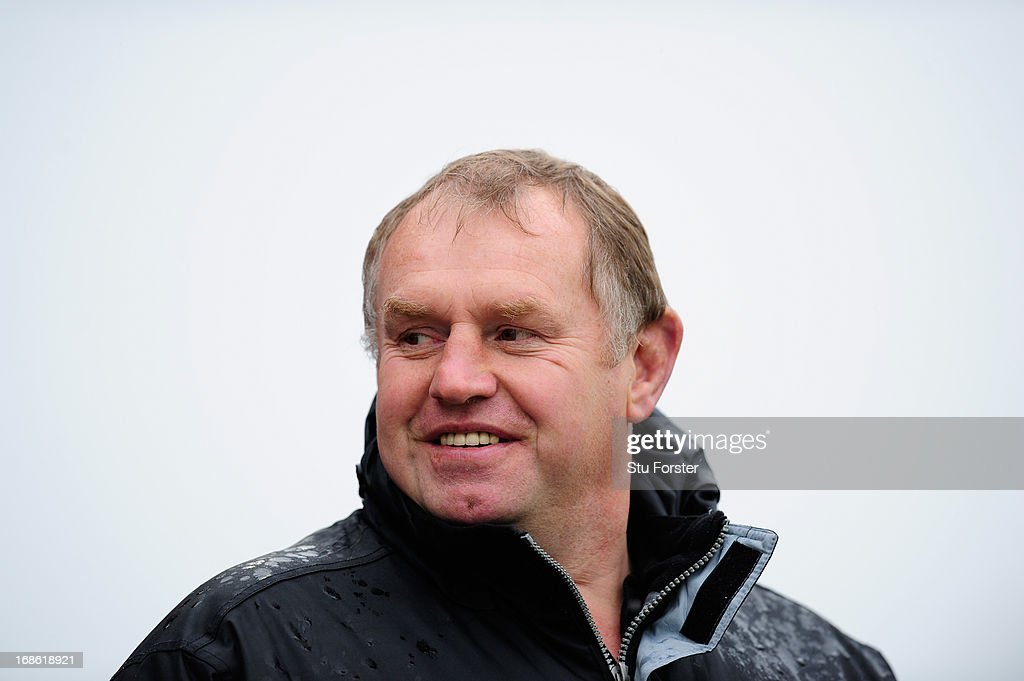 Falcons director Dean Richards raises a smile before the RFU Championship Play Off Semi Final Second Leg between Newcastle Falcons and Leeds Carnegie at Kingston Park on May 12, 2013 in Newcastle upon Tyne, England.