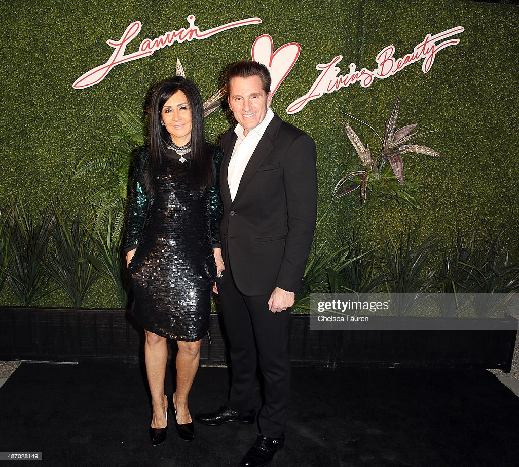 NJ Falk Goldston (L) and Mark Goldston attend Lanvin And Living Beauty Host An Evening Of Fashion on April 26, 2014 in Beverly Hills, California.