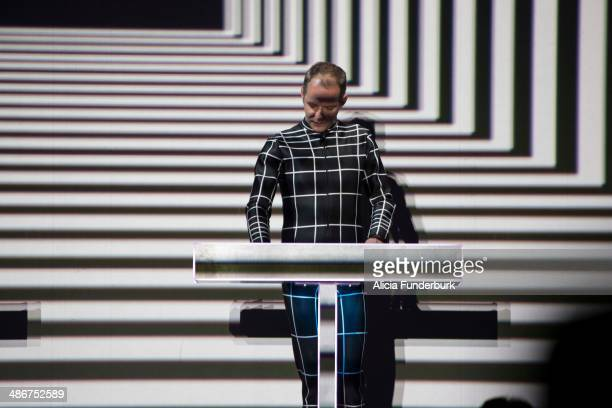 Falk Grieffenhagen of Kraftwerk performs during Moogfest 2014 on April 25 2014 in Asheville North Carolina
