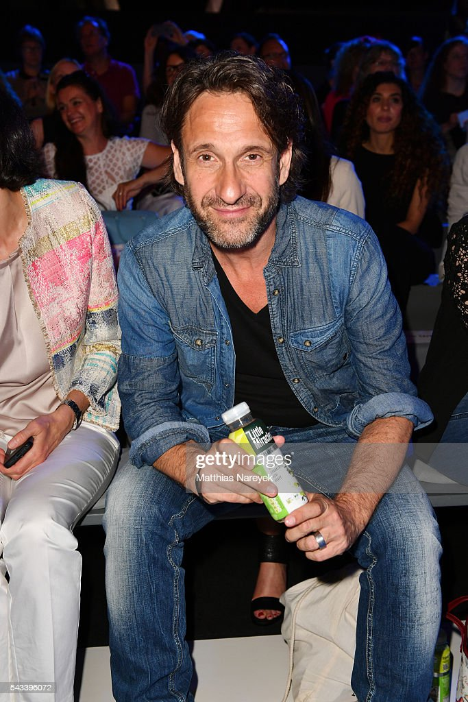 Falk-Willy Wild attends the Ewa Herzog show during the Mercedes-Benz Fashion Week Berlin Spring/Summer 2017 at Erika Hess Eisstadion on June 28, 2016 in Berlin, Germany.