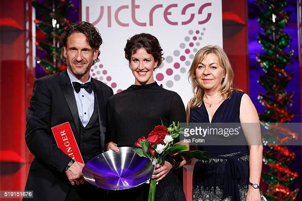 FalkWilly Wild Maxie Matthiessen and Andrea Galle attend the Victress Awards Gala on 2016 in Berlin Germany