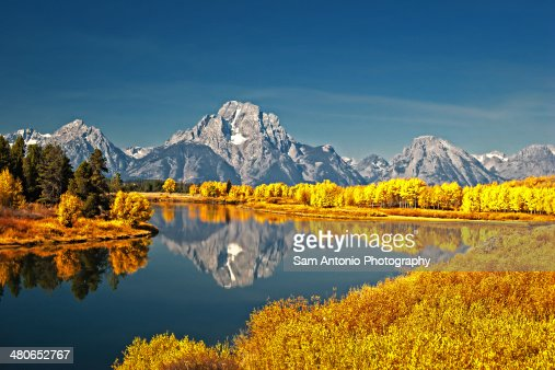 Fall Colors at Oxbow Bend, Grand Teton NP, Wyoming