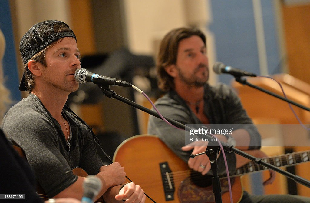 Fall Kick-Off with Kip Moore and Brett James at MTSU on October 8, 2013 in Murfreesboro, Tennessee.