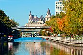 Fall on Ottawa's Rideau Canal, in Canada's capital city.