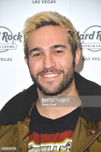Fall Out Boy bassist Pete Wentz attends a New Year's Eve celebration at the Vanity Nightclub at the Hard Rock Hotel Casino on December 31 2015 in Las...