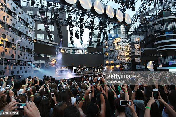 Fall Out Boy performs at the 2015 Much Music Video Awards at MuchMusic on Queen Street West in Toronto June 21 2015