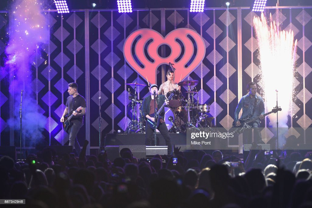Fall Out Boy performs onstage during Q102's Jingle Ball 2017 Presented by Capital One at Wells Fargo Center on December 6, 2017 in Philadelphia, Pennsylvania.