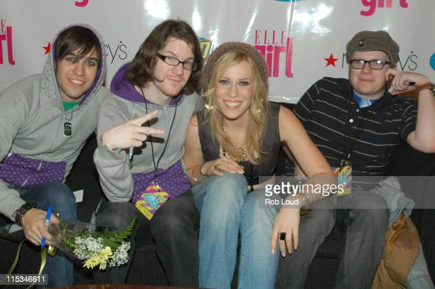 Fall Out Boy with Natasha Bedingfield during Z100 and ELLEgirl All Access Lounge at Hammerstein Ballroom in New York City New York United States