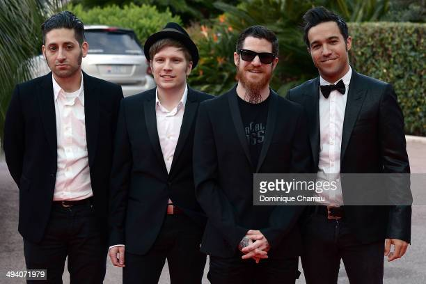 Fall Out Boy with singers Patrick Stump Pete Wentz Joe Trohman et Andy Hurley arrive World Music Awards 2014 at Sporting MonteCarlo on May 27 2014 in...