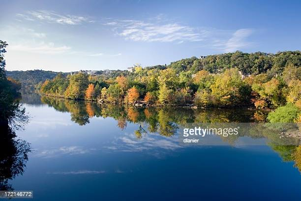 Fall reflections in water