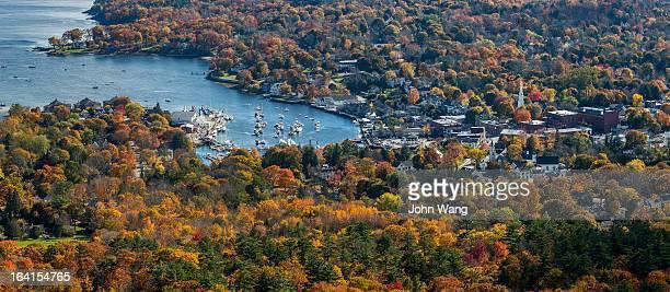 Fall scene overlook from Mt. Battie, ME