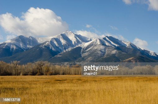 Fall Snow on Mount Princeton