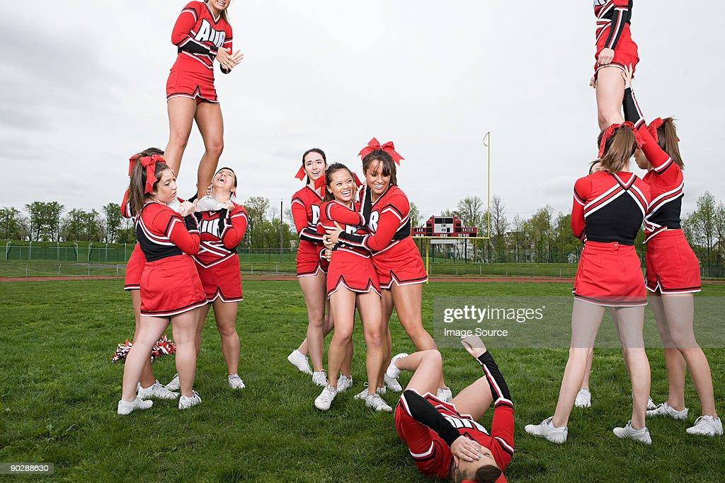 Fallen cheerleader