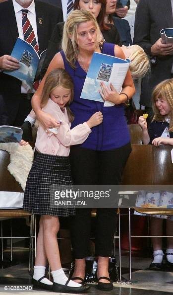 Fallen police officer Dave Phillips' wife Jen and daughters Abigail attend the National Police Memorial Day Service at St Paul's Cathedral in London...