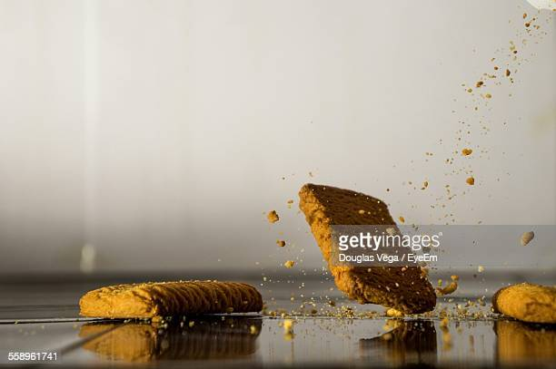 Falling Biscuits And Crumbles Reflecting Surface