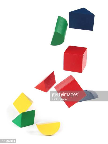 Falling Blocks on white
